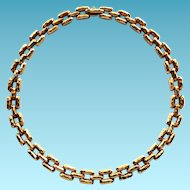 18K Henry Dunay Necklace High End Designer Panther Necklace
