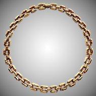 18K Henry Dunay Necklace High End Designer Panther Necklace