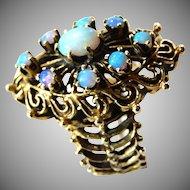 Unique 14k Opal Ring Size 6 1/2