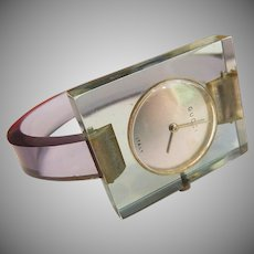 Lucite Gucci Watch Not Running