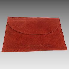 Vintage Cartier Jewelry Storage or Travel Pouch Suede