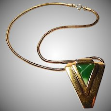 Vintage Lanvin Modernist Necklace Paris 70s Lucite