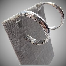 John Hardy Hoop Earrings Hammered Multi Textured Earrings