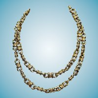 St. John  Gold Necklace Long 40""