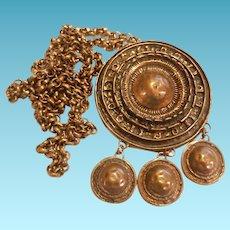 Uni David Andersen and  Unn Tangerud Bronze Necklace Norway Saga Brutalist