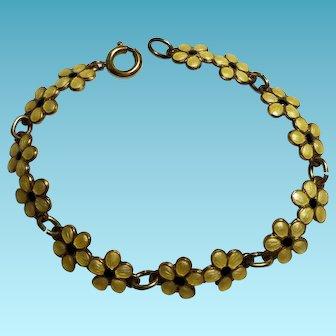 Finn Jensen Small Yellow Flower Sterling Bracelet