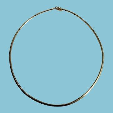 14k Italian Necklace Omega Chain 14.9g