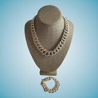 Jumbo Italian Silver Necklace Set