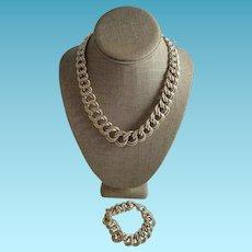 Jumbo Italian Silver Necklace Set