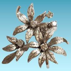 14k Diamond Pendant Enhancer White Gold