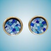 14k Mosaic Opal Earrings Peter Brams Designs Studs