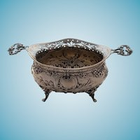 Antique 800 Silver Sugar Bowl