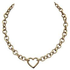Tiffany & co Necklace 18k Heart Clasp Heavy Chain