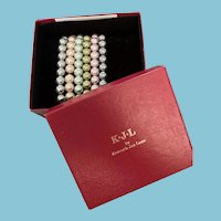 KJL Kenneth Lane Faux Pearl Bracelets