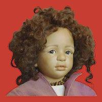 Bisque Mulatto Beauty from Stein Am Rhein Doll Museum