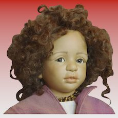 Bisque Mulatto Beauty from Stein Am Rhein Doll Museum