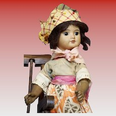 SFBJ mulatto 60 Paris French doll marked 6/0 circa 1918