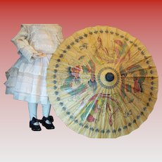 Vintage doll umbrella asian themed with dragons