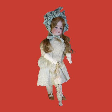 Roullet & Decamps Flirty eyes walking doll with wardrobe