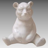 Herend Hungary Sitting Bear - Porcelain - White Finish #15361