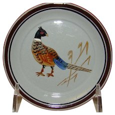Stangl Pheasant Coaster or Small Plate - #5011