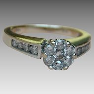 Diamond Ring .75 Carat - 14k White Gold - Size 6.75