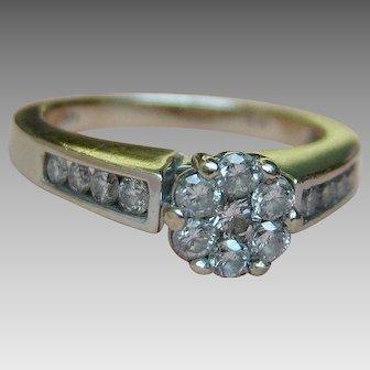 Diamond Ring .75 Carat - 14k White Gold - Size 6.75