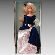 Mattel Avon Exclusive Winter Velvet Blonde Barbie New Old Stock 15571 1st series