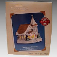 "HALLMARK Ornament ""Fieldstone Church"" Magic Light Sixth In Series MIB"