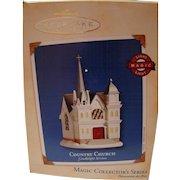 "Hallmark Ornament ""Country Church"" magic light fifth in series MIB"