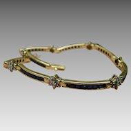 18K Sapphire & Diamond Tennis Bracelet