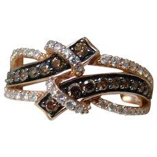 Levian® 14k Chocolate Diamond & White Diamond 3/4 Carat Diamond Ring
