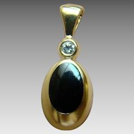 Kabana 14K Onyx Inlay And Diamond Pendant