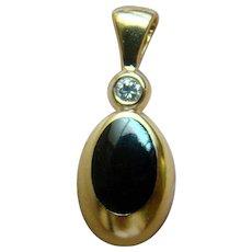 Kabana 14K Onyx Inlay And Diamond Pendant