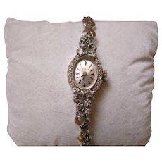 14K White Gold And Diamond Vintage Wyler Watch