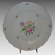 "Herend 11"" dinner charger porcelain plate - hand painted, Herend Hungary"