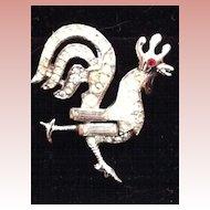 Vintage Crown Trifari Rooster Brooch - Pat. Pend.
