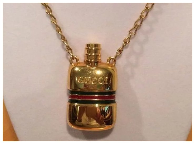 Vintage authentic gucci perfume necklace sold ruby lane vintage authentic gucci perfume necklace aloadofball Image collections