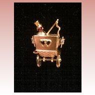 Trifari Honeymoon Carriage Brooch