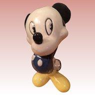 1940's Disney Ceramic Mickey Mouse Figurine