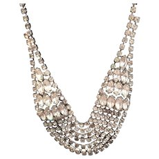 Signed WEISS Rhinestone Necklace Vintage Circa 1950
