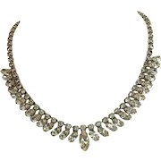 WEISS Rhinestone Necklace Signed