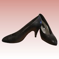Italian Leather High Heel Pumps - Size 6 B - Excellent Vintage Condition