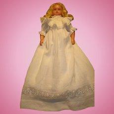 Antique Wax Girl Doll-Pierotti circa 1880, 18 inches