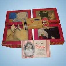 Vintage Ginny Doll Clothes Boxed, 5 sets, Plus Extras!