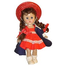 Ginny Doll - Vintage Straight Leg Walker, Boxed, Dressed. Circa 55'-57'. ON LAYAWAY for Marcie