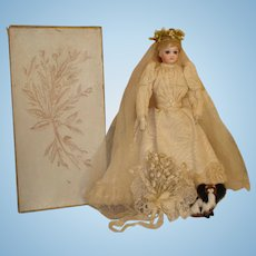 Jumeau Fashion A/O Bride in Original Box-RARE