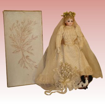 Jumeau Fashion A/O Bride in Original Box-RARE