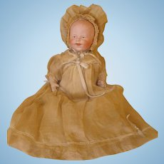 Heubach Laughing Baby #7911 - All original Antique Clothing - Delightful!