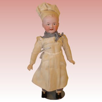 "Heubach  ""Little Chef"" - All Original Factory Outfit, #8573. Super Modeling!"
